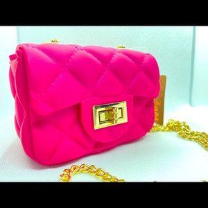 NWT Barbie Pink, Matte Finish Jelly Crossbody Bag!
